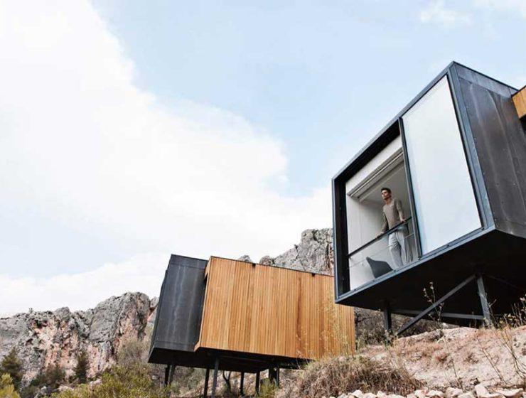 Cubos sobre la tierra / Foto: Vivood Landscape Hotel