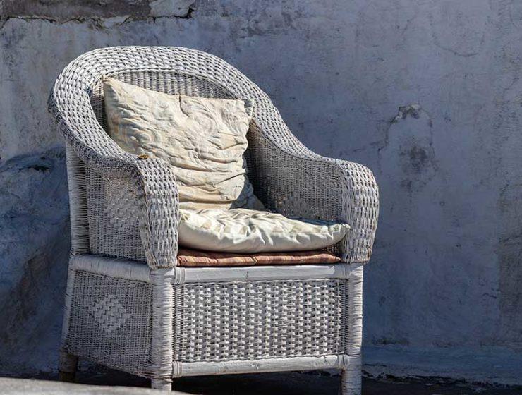 Opciones en asientos de mimbre / Foto: Grant Durr